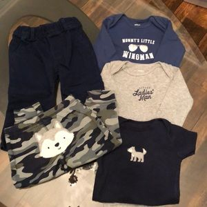 5 Piece Boys 12 Month Carter's Wolf Bundle